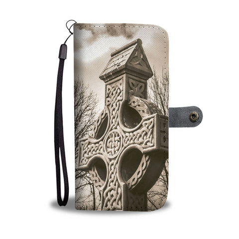 Image of Clondegad Celtic Cross, County Clare, Wallet Phone Case Wallet Case wc-fulfillment