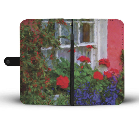 Image of Bunratty Cottage Windowbox, County Clare, Wallet Phone Case Wallet Case wc-fulfillment