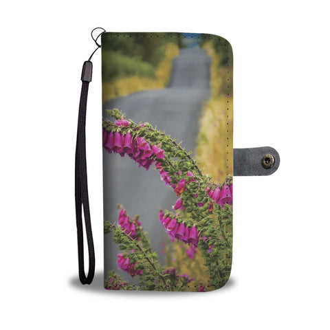 Image of Fairy Thimbles on Irish Country Road, Wallet Phone Case Wallet Case wc-fulfillment