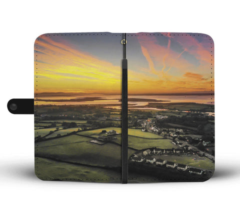 Sunrise over Kildysart and Shannon Estuary, County Clare, Wallet Phone Case Wallet Case wc-fulfillment