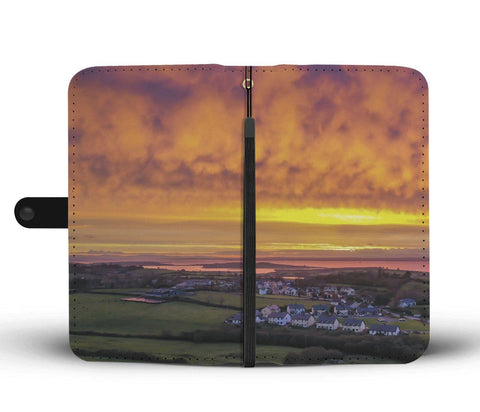 Boiling Sunrise over Kildysart, County Clare, Wallet Phone Case Wallet Case wc-fulfillment