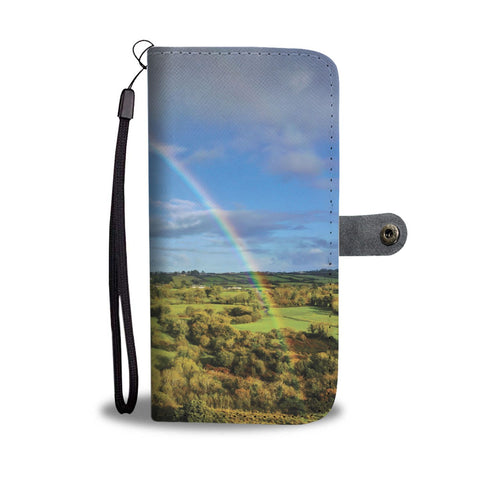 Rainbow over Irish Countryside, Wallet Phone Case Wallet Case wc-fulfillment