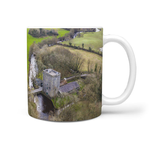 Ceramic Mug - Thoor Ballylee (Yeats' Tower) in County Galway Countryside 360 White Mug wc-fulfillment