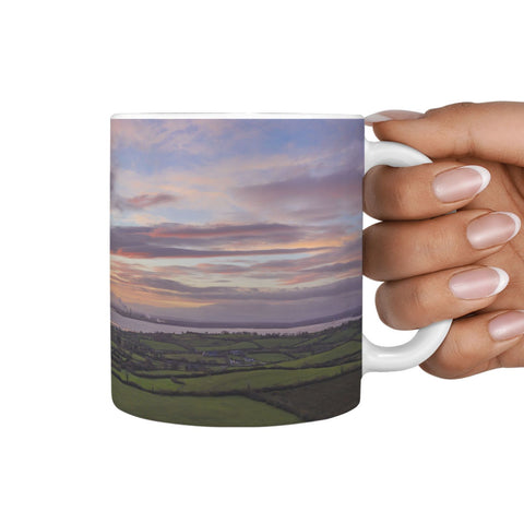 Ceramic Mug - Shannon Estuary Sunrise at Kildysart, County Clare 360 White Mug wc-fulfillment