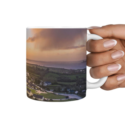 Ceramic Mug - Brilliant Morning Sun over Kildysart, County Clare 360 White Mug wc-fulfillment