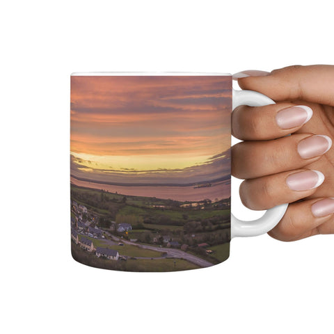 Cermic Mug - Red Sky in the Morning over Kildysart, County Clare 360 White Mug wc-fulfillment