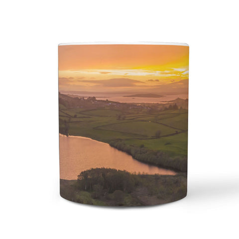 Ceramic Mug - Sunrise over Ballylean Lake, Kildysart, County Clare 360 White Mug wc-fulfillment
