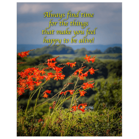 Irish Blessing Print - Always Make Time for the Things That Make you Feel Happy Poster Print Moods of Ireland 11x14 inch