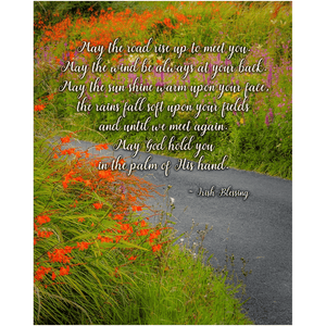 Irish Blessing Print - May the Road Rise to Meet You Poster Print Moods of Ireland 8x10 inch