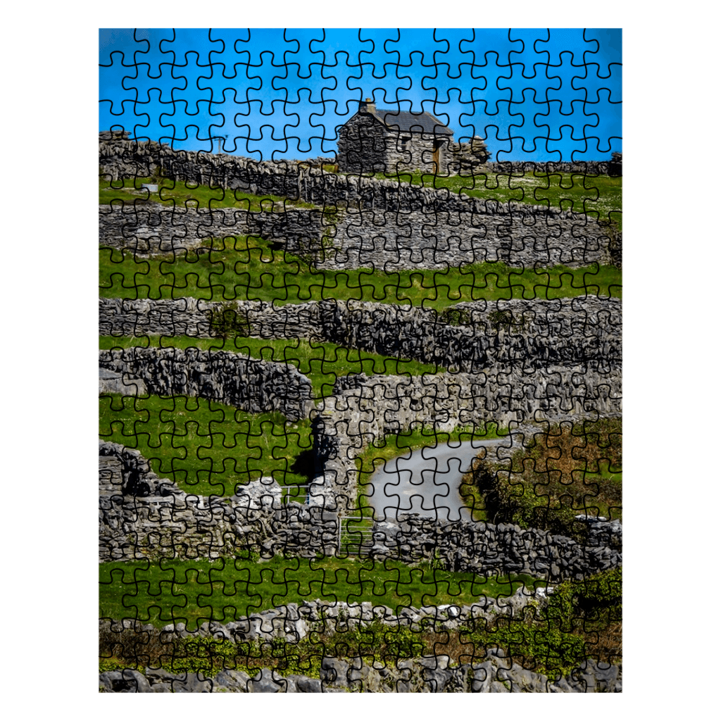 Puzzle - Criss-Crossed Stone Walls of Inisheer Puzzle Moods of Ireland 252 Pieces