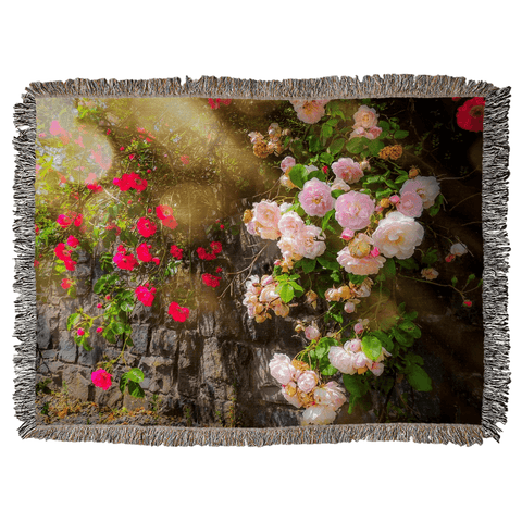Image of Irish Roses Woven Blanket