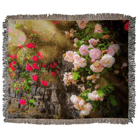 Image of Irish Roses Woven Blanket Woven Blanket Moods of Ireland 50x60 inch