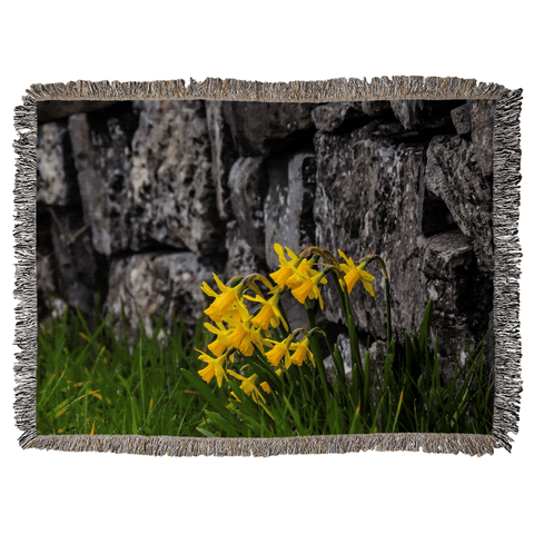 Image of Irish Spring Daffodils Woven Blanket