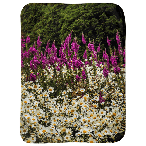 Image of Sherpa Blanket (Infant Size) - Faerie Thimbles and Daisies in the Irish Countryside