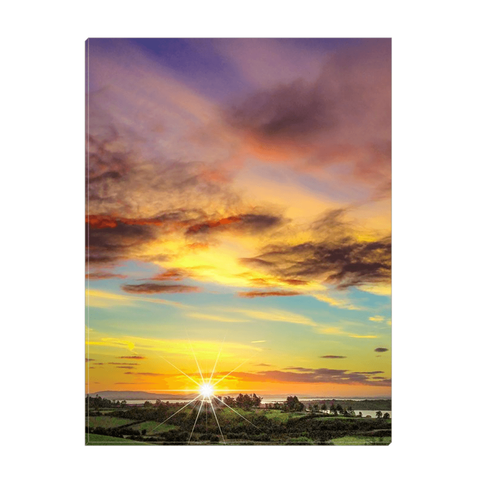 Image of Canvas Wrap - Autumn Sunrise over Shannon Estuary Canvas Wrap Moods of Ireland