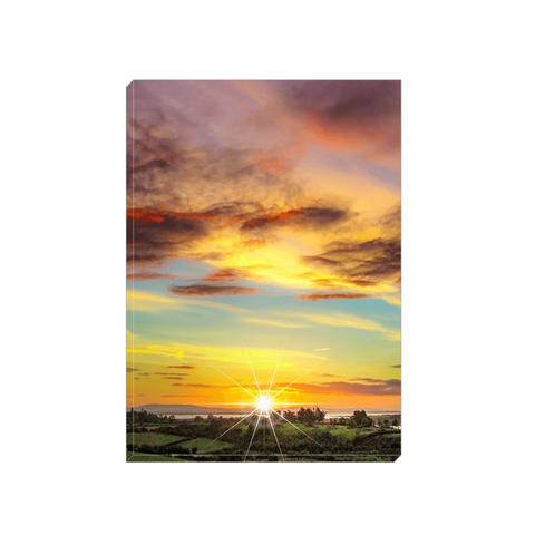 Image of Canvas Wrap - Autumn Sunrise over Shannon Estuary Canvas Wrap Moods of Ireland 5x7 inch