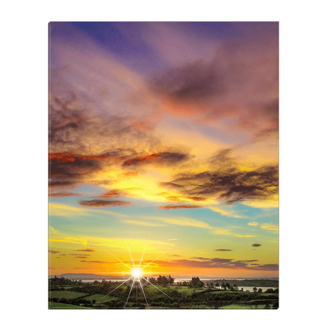 Image of Canvas Wrap - Autumn Sunrise over Shannon Estuary Canvas Wrap Moods of Ireland 16x20 inch
