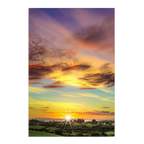 Canvas Wrap - Autumn Sunrise over Shannon Estuary Canvas Wrap Moods of Ireland 16x24 inch
