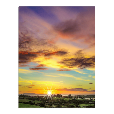Image of Canvas Wrap - Autumn Sunrise over Shannon Estuary Canvas Wrap Moods of Ireland 18x24 inch