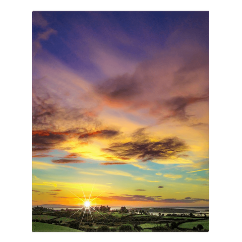 Image of Canvas Wrap - Autumn Sunrise over Shannon Estuary Canvas Wrap Moods of Ireland 24x30 inch