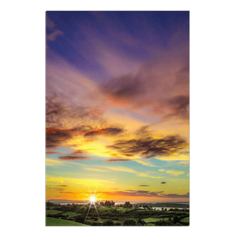 Canvas Wrap - Autumn Sunrise over Shannon Estuary Canvas Wrap Moods of Ireland 20x30 inch