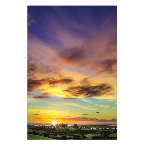 Image of Canvas Wrap - Autumn Sunrise over Shannon Estuary Canvas Wrap Moods of Ireland 24x36 inch