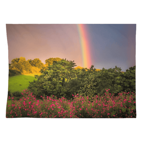 Tapestry - County Clare Rainbow and Wildflowers Tapestry Moods of Ireland 26x36 Inch Indoor Microfiber without Grommets