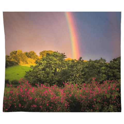 Tapestry - County Clare Rainbow and Wildflowers Tapestry Moods of Ireland 68x80 Inch Indoor Microfiber without Grommets