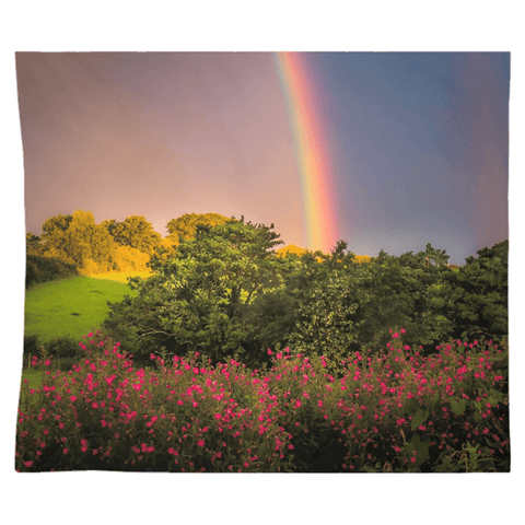 Tapestry - County Clare Rainbow and Wildflowers Tapestry Moods of Ireland 51x60 Inch Indoor Microfiber without Grommets