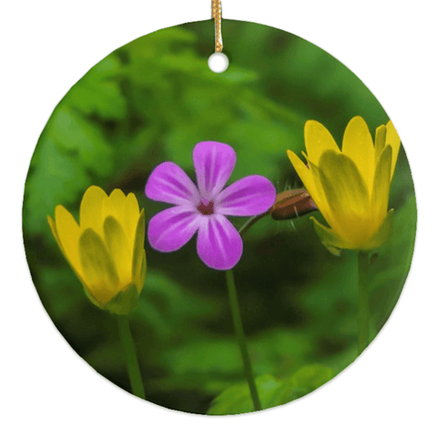 Image of Porcelain Ornaments - Irish Wild Flowers