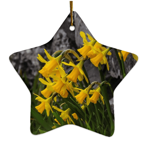 Image of Porcelain Ornament - Irish Spring Daffodils ornaments Moods of Ireland Star