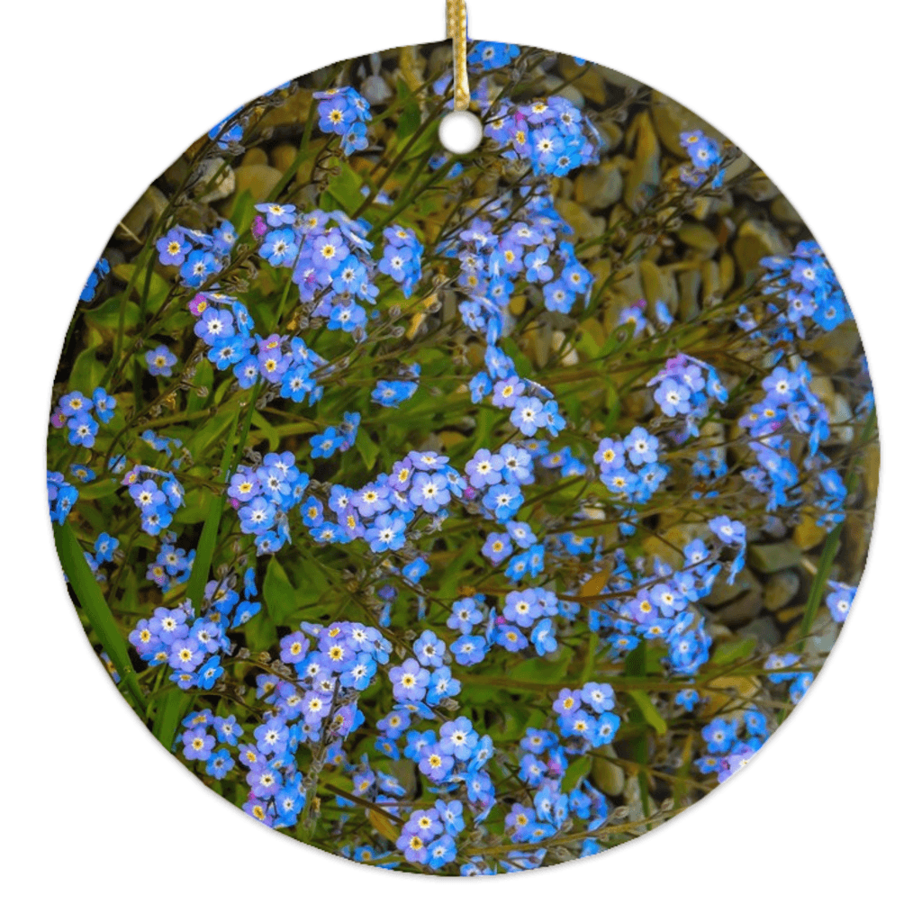 Porcelain Ornament - Forget-Me-Nots Ornament Moods of Ireland Round