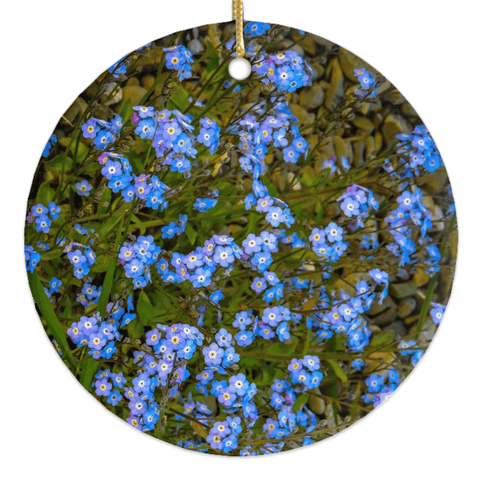 Image of Porcelain Ornament - Forget-Me-Nots Ornament Moods of Ireland Round