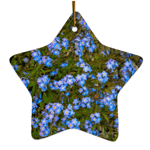 Image of Porcelain Ornament - Forget-Me-Nots Ornament Moods of Ireland Star