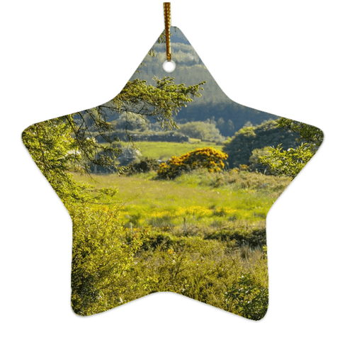 Image of Porcelain Ornament - Ireland's 40 Shades of Green Ornament Moods of Ireland Star
