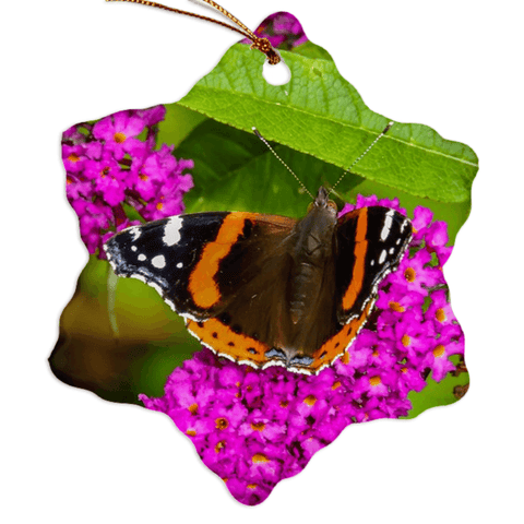 Porcelain Ornament - Butterfly at St. Martin's Well, Ballynacally, County Clare Ornament Moods of Ireland Snowflake