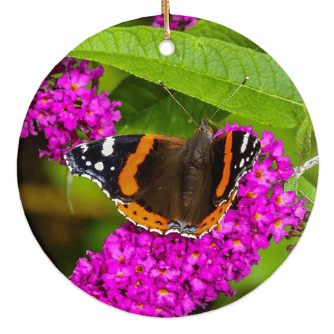 Porcelain Ornament - Butterfly at St. Martin's Well, Ballynacally, County Clare Ornament Moods of Ireland Round