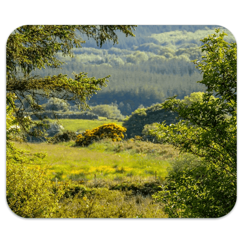 Image of Mousepad - 40 Shades of Green in the County Clare Countryside Mousepad Moods of Ireland 7.79x9.25 inch