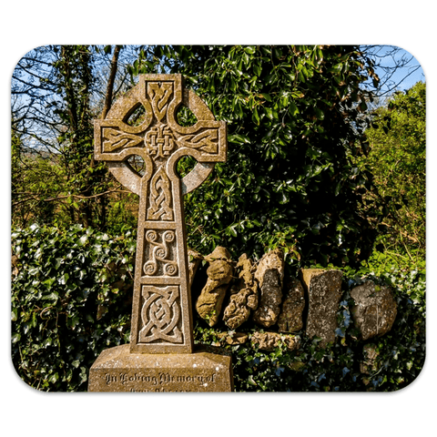 Image of Mousepad - Celtic Cross at Dysert O'Dea Graveyard, County Clare Mousepad Moods of Ireland 7.79x9.25 inch