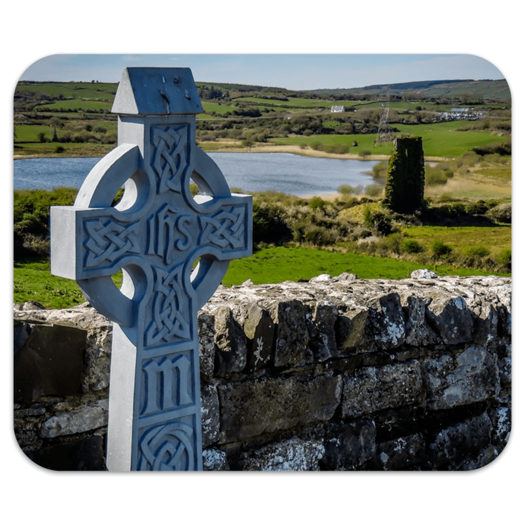 Mousepad - Celtic Cross at Rath Church, County Clare Mousepad Moods of Ireland 7.79x9.25 inch
