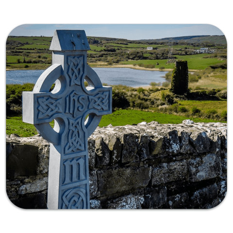 Image of Mousepad - Celtic Cross at Rath Church, County Clare Mousepad Moods of Ireland 7.79x9.25 inch