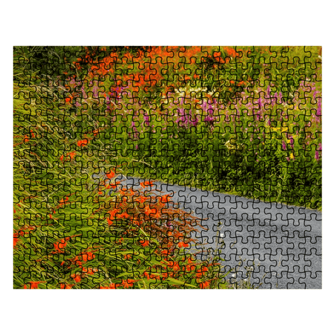 Puzzle - Irish Wild Flowers on a Country Road Puzzle Moods of Ireland 252 Pieces