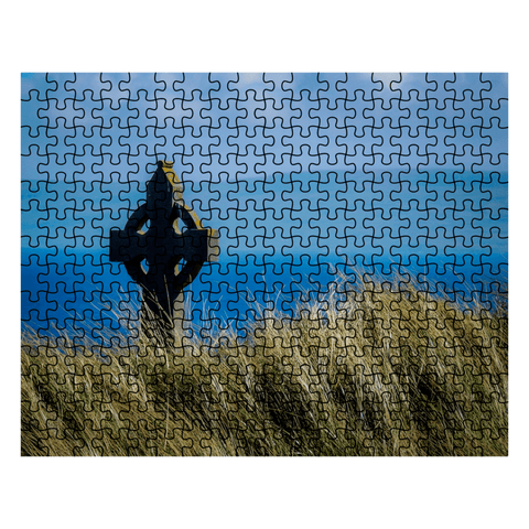 Image of Puzzle - Celtic Cross & Atlantic Ocean, Aran Islands Puzzle Moods of Ireland 252 Pieces