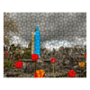 Puzzle - Tulips Around the Virgin Mary at Quin Abbey, County Clare Moods of Ireland 252 Pieces