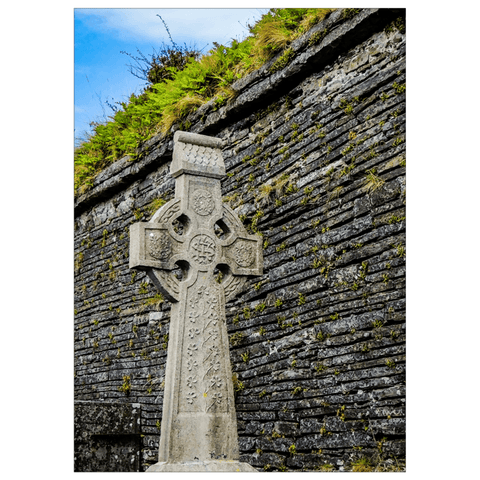 Image of Flat Card - Celtic Cross at Kilmurry-Ibrickane Graveyard, County Clare