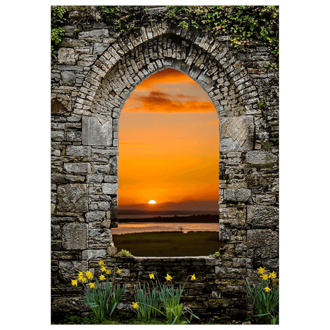 Image of Flat Card - Magical Irish Spring Sunrise Flat Card Moods of Ireland 25 Cards