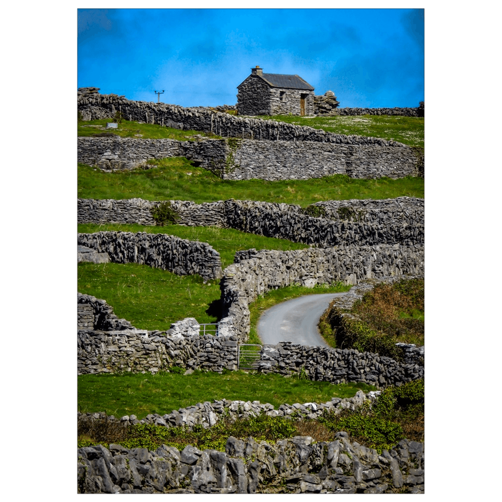 Flat Card - Criss-Crossed Stone Walls of Inisheer Flat Card Moods of Ireland 25 Cards