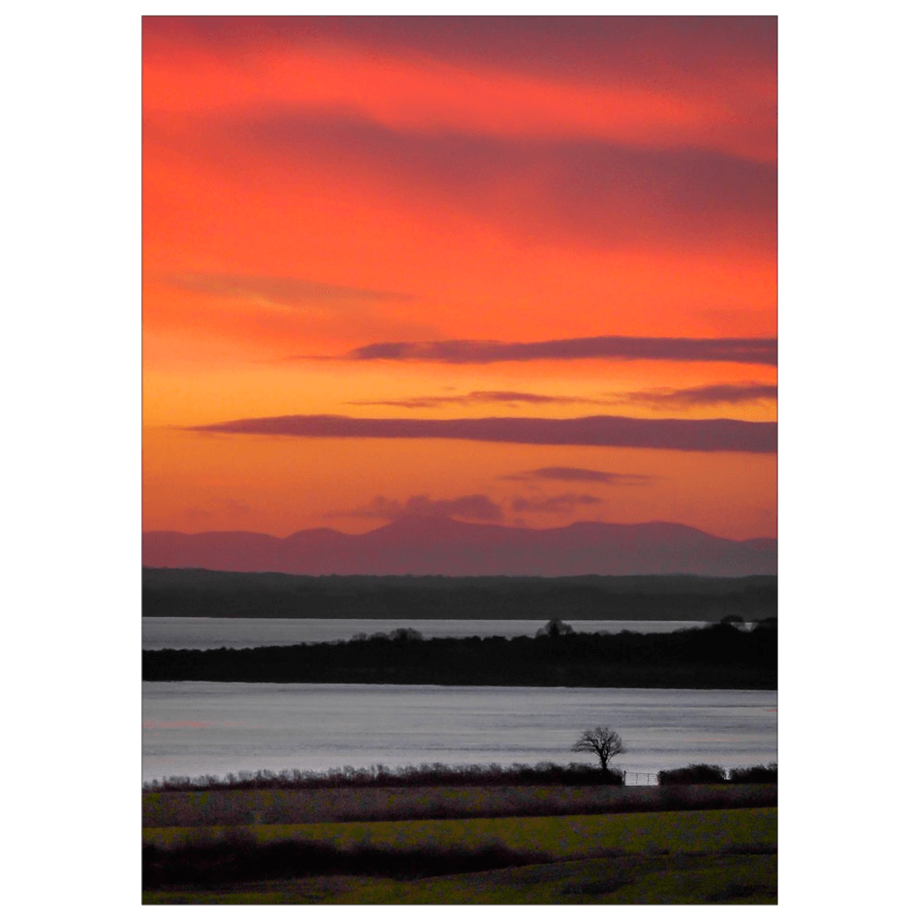 Flat Card - Shannon Estuary Sunrise from Crovraghan, County Clare Flat Card Moods of Ireland 25 Cards