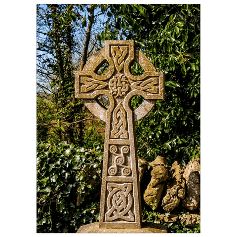 Image of Flat Card - Celtic Cross at Dysert O'Dea Graveyard, County Clare Flat Card Moods of Ireland 25 Cards
