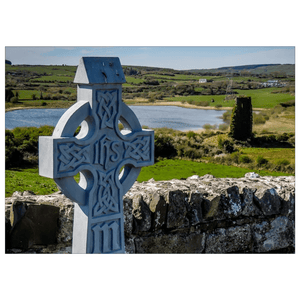 Flat Card - Celtic Cross at Rath Church & Castle, County Clare Flat Card Moods of Ireland 25 Cards